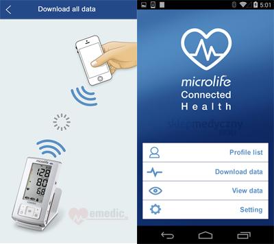 Ci¶nieniomierz Microlife A6 BT AFIB, Bluetooth