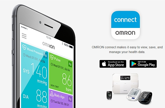 aplikacja omron connect