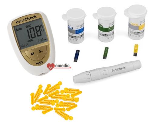 BeneCheck Plus - pomiar cholesterolu, kwasu moczowego, glukozy